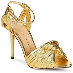 Charlotte Olympia Broadway Open Metallic Dress Heels ($280) ❤ liked on Polyvore featuring shoes, pumps, high heel stilettos, metallic gold pumps, stiletto pumps, gold stilettos and heels stilettos #charlotteolympiaheelsdresses