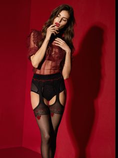 Suspender Tights, Garters And Stockings, Red Lace, Simply Beautiful, Hosiery, Outfit, Perfect Fit, Night Out, Looks Great