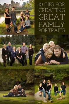 """With my background being in classic style studio portraiture (aka """"boring""""), and 25 years experience photographing portraits and weddings, I have a few tips up my sleeve for you. If you've never done a family or group portrait before don't be intimidated. Large Family Poses, Summer Family Pictures, Summer Family Photos, Outdoor Family Photos, Family Picture Poses, Family Picture Outfits, Family Photo Sessions, Family Pics, Large Family Pictures"""