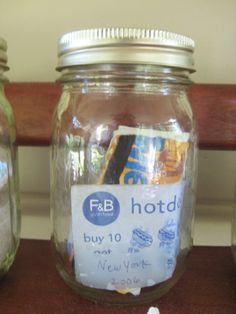Vacation memory jars- cute idea! (Young House Love - One young family + one old house = love.)