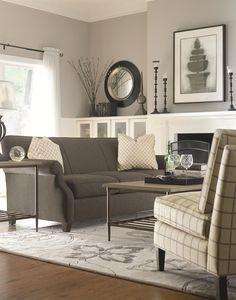 Living room - gray - Futura Home Decorating Living Room Grey, Home And Living, Living Area, Living Room Decor, Living Spaces, Living Room Drapes, Boho Living Room, Paint Colors For Living Room, Small Living Rooms
