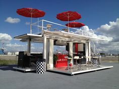 Audi created its own bistro with a recycled shipping container.
