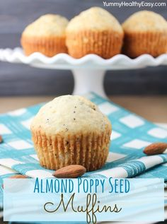Almond Poppy Seed Muffins - (but use 2 tbsp of lemon juice instead of almond extract)