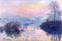 Coucher de soleil à Lavacourt par Claude Monet                                                                                                                                                                                 Plus