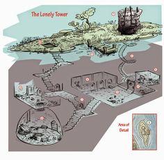 Dois esconderijos     O mapa de hoje na verdade são dois mapas de pequenas estruturas que muito podem servir de covil ou de esconderijo de ...