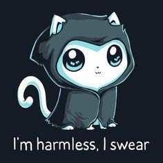 Grim Kitty | Funny, cute & nerdy shirts | TeeTurtle
