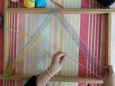 Tutorial telar bastidor rectangular basico PARTE I metodo tradicional / Rectangle loom PART I - YouTube Plastic Canvas Stitches, Macrame Knots, Loom Weaving, Diy Videos, Projects To Try, Textiles, Crochet, Mini, Weave