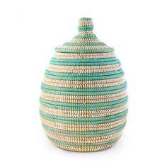 Lidded Gourd Basket Aqua, $28, now featured on Fab.