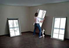 Fake digital windows - choose your own moving images to fill them! Unbelievable.