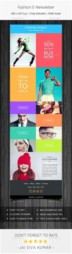 Fashion Ecommerce Email Newsletter - E-newsletters Web Elements