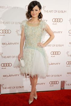 Rachel Bilson at the Art Of Elysium's 5th Annual Heaven Gala at Union Station on January 14, 2012 wearing Chanel