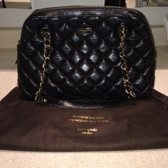 Kate spade handbag Excellent condition Kate spade black quilted handbag. Price firm. kate spade Bags Shoulder Bags