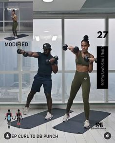 Full Body Hiit Workout, Gym Workout Tips, Fitness Workout For Women, Dumbbell Workout, Shoulder Workout, Keep Fit, Excercise, Fitness Inspiration, Workout For Beginners