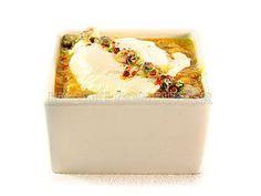 Huevos escalfados con chirlas y salsa marinera - Diabetes