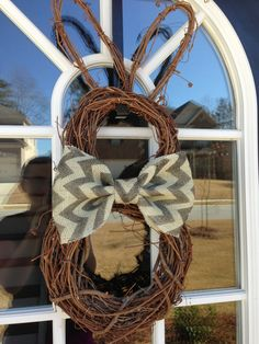Easter Bunny Bow Tie Wreath
