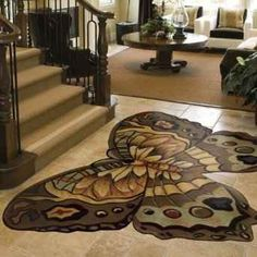 wow, beautiful butterfly rug
