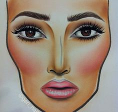 simple beauty face chart