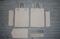We detail the making of a leather tote in this quick post documenting our process.  Our natural leather totes are of the highest leather quality, and we hope you enjoy!