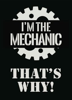 I'm The Mechanic That's Why Garage Sign With Velcro Magnet Locker Desk Office Poster Home Auto Shop Simple Signs Tool Box Funny Print s268 by iCandyProducts on Etsy https://www.etsy.com/listing/208888100/im-the-mechanic-thats-why-garage-sign