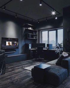Home Studio Setup, Home Office Setup, Home Office Design, Home Interior Design, House Design, Desk Setup, Workspace Desk, Interior Decorating, Bedroom Setup