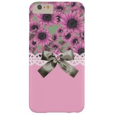 Pink Sunflowers iPhone 6 Plus Case
