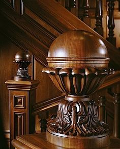 chasingrainbowsforever:  Mahogany Staircase Details