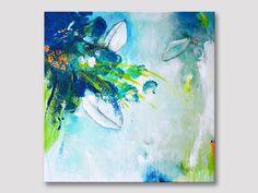 TITRE : Tropical Original fine art peinture acrylique sur toile étirée. +++++++++++++++++++++++++++++++++++++++++++++ TENDU SUR CADRE EN BOIS & PRÊT À ACCROCHER +++++++++++++++++++++++++++++++++++++++++++++ Dimensions : 50 cm x 50 cm (20 po x 20 po), la toile est de 0,7 pouce de profondeur. Un revêtement clair brillant a été appliqué à la surface pour protéger la peinture contre la lumière UV, lhumidité et la poussière. Agrafes sont sur le dos et les bords sont peints a...
