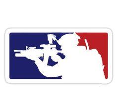 'United States Army Infantry' Sticker by Scott Harrison Logo Sticker, Sticker Design, Jeep Cherokee Accessories, Government Logo, Military Stickers, Bird Masks, Army Infantry, Tactical Patches, United States Army