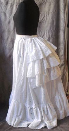 petticoat for a victorian bustle gown