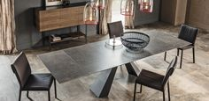 TABLES EXTENDIBLE ELIOT KERAMIK DRIVE | Cattelan Italia