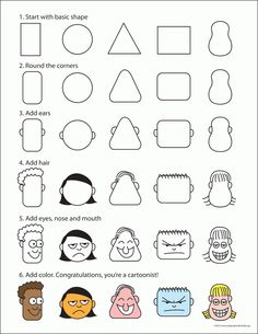 How to Draw Cartoon Faces | Art Projects for Kids