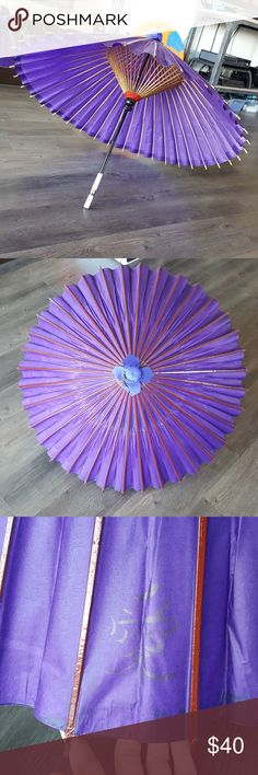 Japanese Umbrella Purple Bought from Japan in the Disney World Epcot World Showcase, in excellent condition.  I have a Japanese Kimono and Geisha set up for sale and this would match it.  Last pic shows other umbrellas I am selling. Accessories Umbrellas