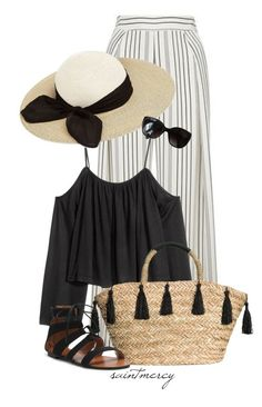 """""""""""Summer afternoon—summer afternoon; to me those have always been the two most beautiful words in the English language.""""  ― Henry James"""" by saint-mercy ❤ liked on Polyvore featuring Topshop, Eugenia Kim and Chanel"""