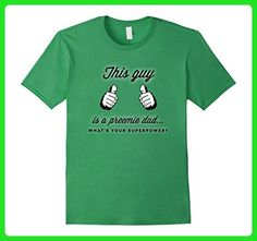 Mens This Guy Is a Preemie Dad What's Your SuperPower? T Shirt 2XL Grass - Relatives and family shirts (*Amazon Partner-Link)