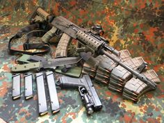 and Glock tactical Weapons Guns, Military Weapons, Guns And Ammo, Armas Wallpaper, Team Wallpaper, Fire Powers, Assault Rifle, Cool Guns, Tactical Gear