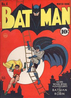 Cover art by Bob Kane and Jerry Robinson, 1941