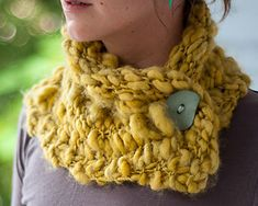 Looking for something amazing to knit in the new Colinette Point 5 that just arrived in the shop? How about the Wasabi Cowl by Cassandra Dominick. This is a free pattern on Ravelry and a quick knit. #cowls