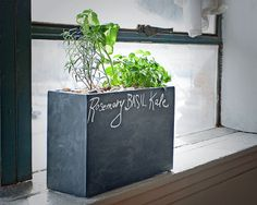 Love this new solar #hydroponic windowsill planter with chalkboard enclosure! #gardening