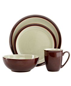 Denby Dinnerware, Duets Chestnut Apple 4 Piece Place Setting - Casual Dinnerware - Dining & Entertaining - Macy's