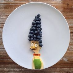 Food Art. Marge Simpson.