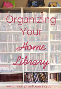 5 Steps To Organizing Your Home Library is part of home Library DIY - Organizing your home library can seem like a daunting task Find out why I embarked on this task and how you can organize your home library in five steps Home Library Diy, Home Libraries, Library Design, Public Libraries, Library Room, Library Ideas, Bookshelf Organization, Life Organization, Organizing Bookshelves