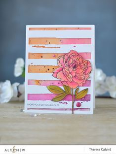 Altenew - Peony Spray - Watercolor Strips - Lostinpaper (Video Card) - Thumbnail Source by bricia Card Making Inspiration, Making Ideas, Card Creator, Altenew Cards, Cricut, Watercolor Cards, Watercolor Poppies, Watercolor Effects, Watercolor Ideas