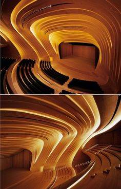 Heydar Aliyev Center by Zaha Hadid Architects (Baku, Azerbaijan) contains a multipurpose culture hall