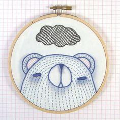#embroidery #bears  Very cute!!  #Bees Knees