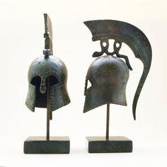Ancient Greek Helmet with Spiraling Serpent Crest by GreekMythos