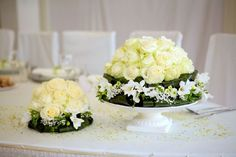 Flower cake - white & green ~ Helene Gutjahr