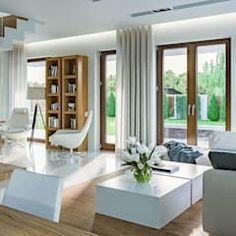 Projekt domu homekoncept 03 od homekoncept   projekty domów nowoczesnych nowoczesny   homify Outdoor Furniture Sets, Outdoor Decor, Interior Design, Living Rooms, Home Decor, Outdoor Furniture, House Decorations, Modern Architecture, Living Room