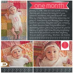 one month monthly recap  baby book  monthly photos first year photos amy mallory  designerdigitals.com