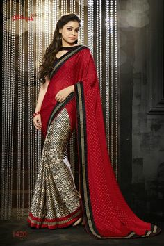 ♥ Taka ♥ Saree Code ♥ Material - Amazing embellished italian satin crepe ♥ Blouse - Unstitched & included ♥ ♥ Embroidered - A touch of embroidered border Designer Sarees Collection, Saree Collection, Indian Sarees, Silk Sarees, High Fashion, Womens Fashion, India Beauty, Saris, Bollywood Fashion