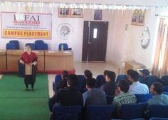 "Ms. Rikita Swaroop, a Corporate Soft Skills Trainer, trains employees in organizations like Infosys, Tech Mahindra and Various MNC's, took sessions for the students of The ICFAI University, Jharkhand  a Constituent of the ICFAI Group on ""How to face Job Interviews""."